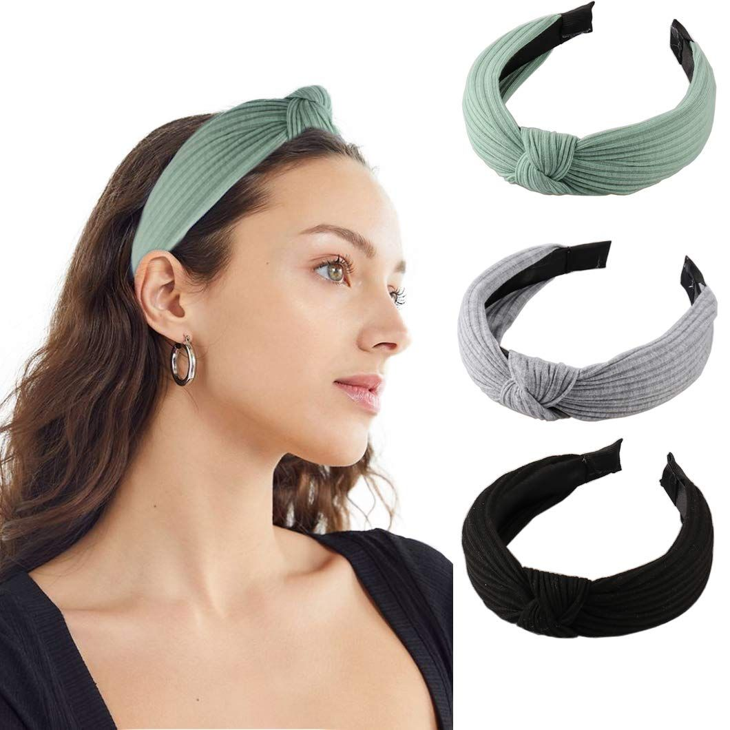 Vintage Velvet Knot Headbands Female Fashion Knotted Hairbands Hair Accessories