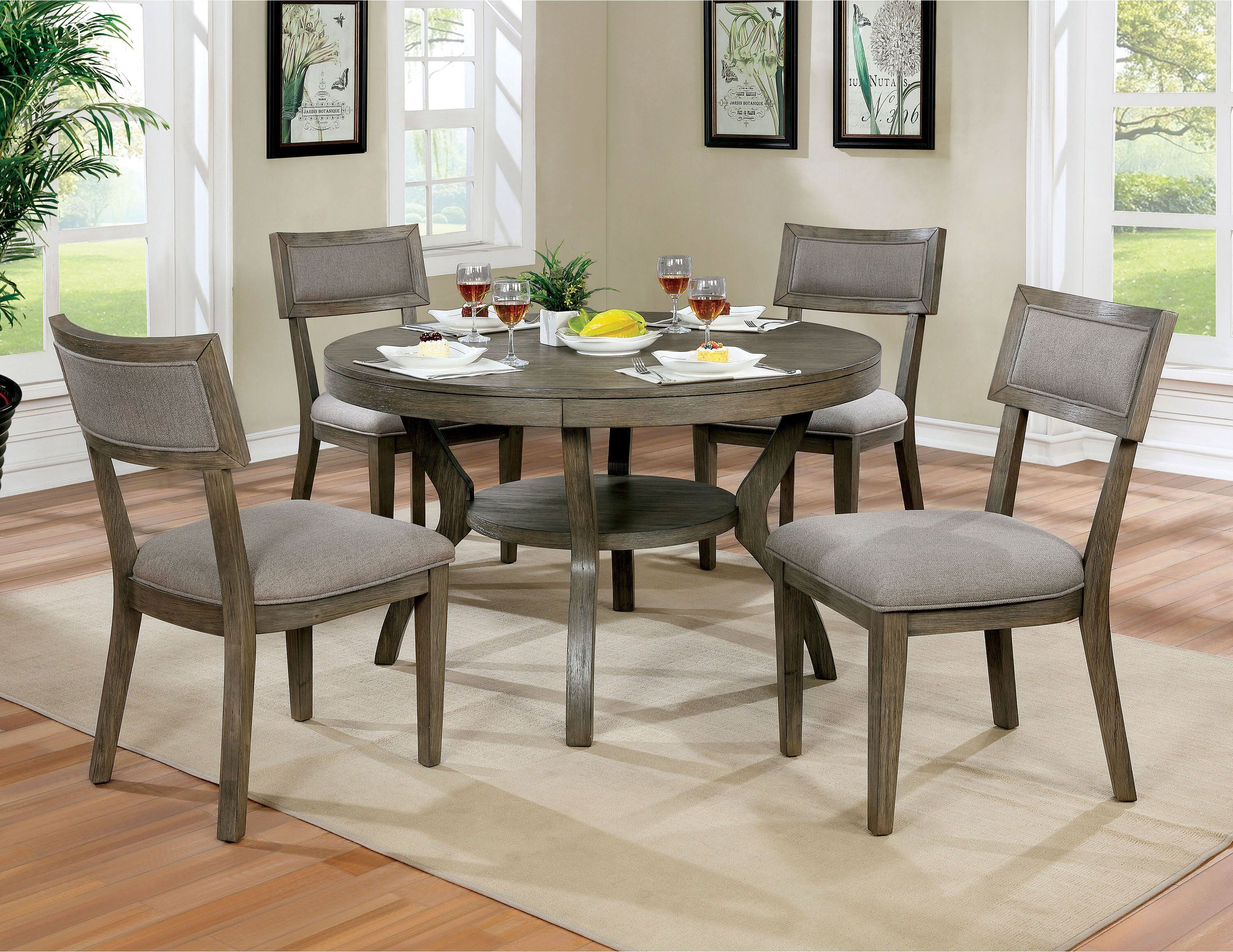 Brockman Dining Table In 2020 Grey Round Dining Table Round Dining Room Sets Round Dining Table Sets