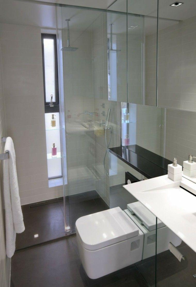 Baños pequeños con mucho estilo - 38 ideas   Baños modernos pequeños ...