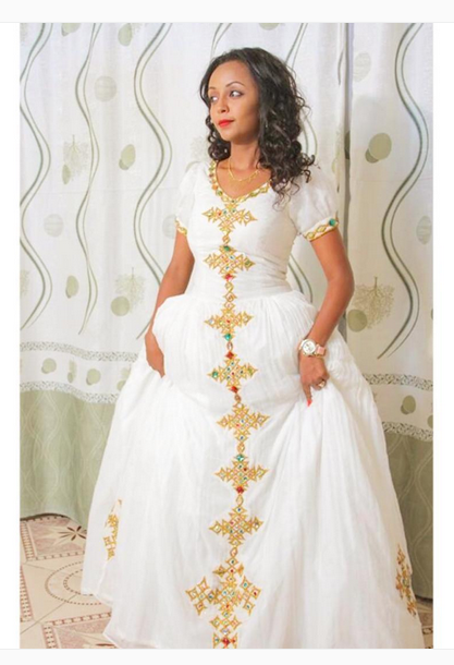 African ethiopian habesha brides and weddings 0 african for Ethiopian traditional wedding dress designer
