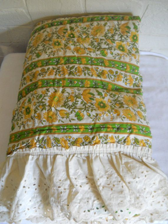 Boho Bedspread Twin Size Bedspread Yellow by #EclecticVintageHome