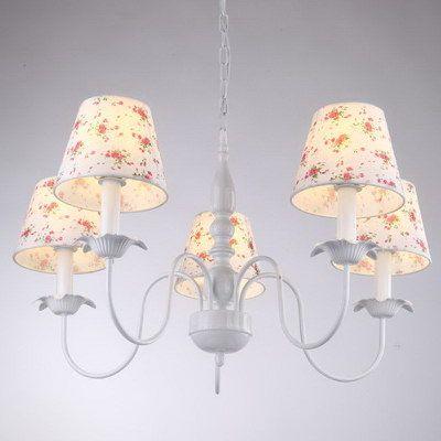 Mediterranean Stripe Fabric Dining Room Pendant Light Simple Study Room Pendant Lamps Girl's Room Pendant Lamp