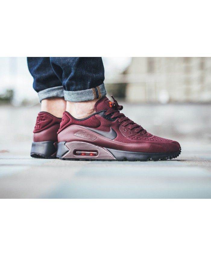 6e3d84ad08ee8 Nike Air Max 90 Ultra SE Burgundy Trainer | nike air max 90 ultra se ...