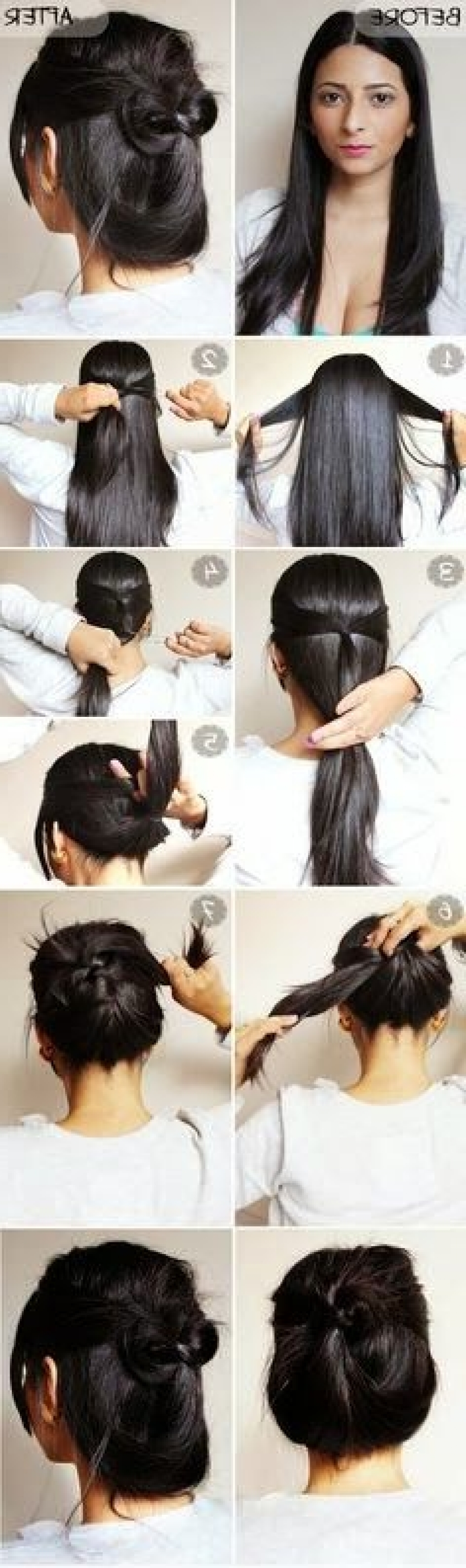 quick amp easy 2 minute casual updo tutorial haircuts amp