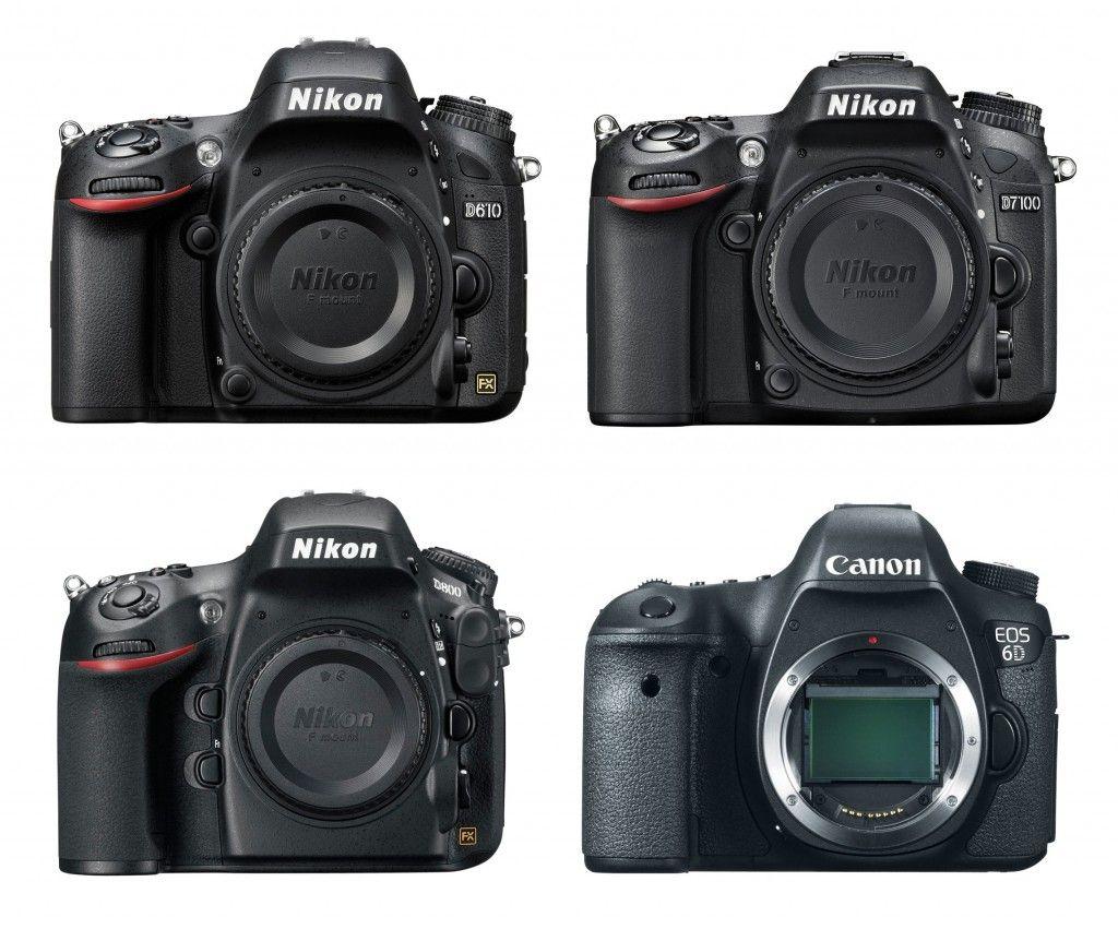 Nikon D610 Vs D7100 Vs D800 Vs Canon 6d Specs Comparison Camera News At Cameraegg Canon 6d Nikon Canon