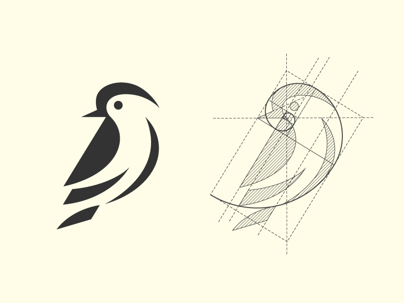 Fox Logo Based On Golden Ratio Golden Ratio Logo Golden Ratio Logo Design Branding Design Logo