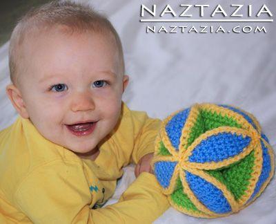Free Pattern - Crochet Amish Puzzle Ball Baby Toy Amigurumi