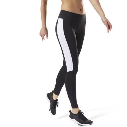 Reebok Womens Work Out Ready Big Delta Tights