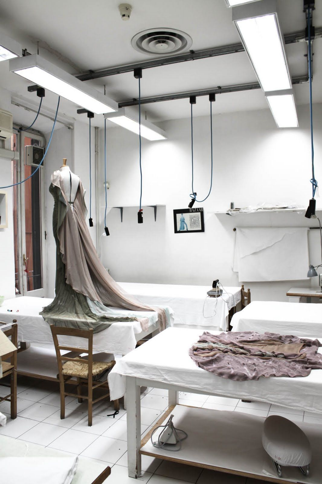 Just another day en Valentinos atelier  Fashion workroom  Fashion studio Atelier Sewing