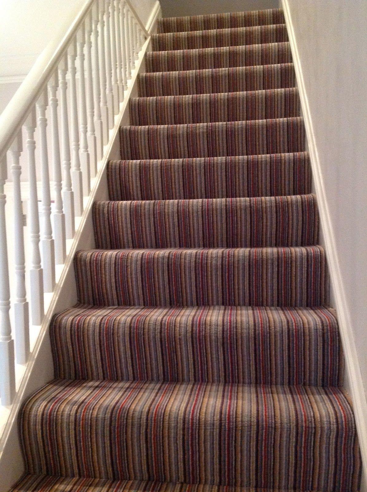 Striped Stair Carpet Stairway Carpet Stairways Stairs
