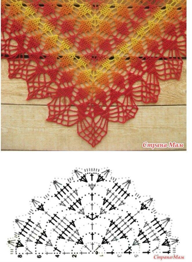 Lovely pattern for crochet scarf