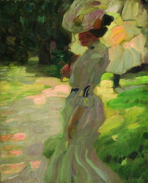 Poboh Frau Mit Sonnenschirm 1900 Leo Putz If I Had A Museum