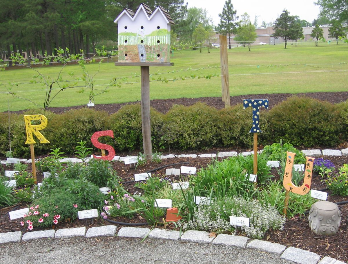 Alphabet themed garden - Plus more ideas for theme gardens on this on metal church designs, art garden designs, wet garden designs, ghost designs, country girl designs, learning garden designs, understanding garden designs, metallica designs, alphabet garden designs, meditation garden designs, master designs, ministry designs, family garden designs,
