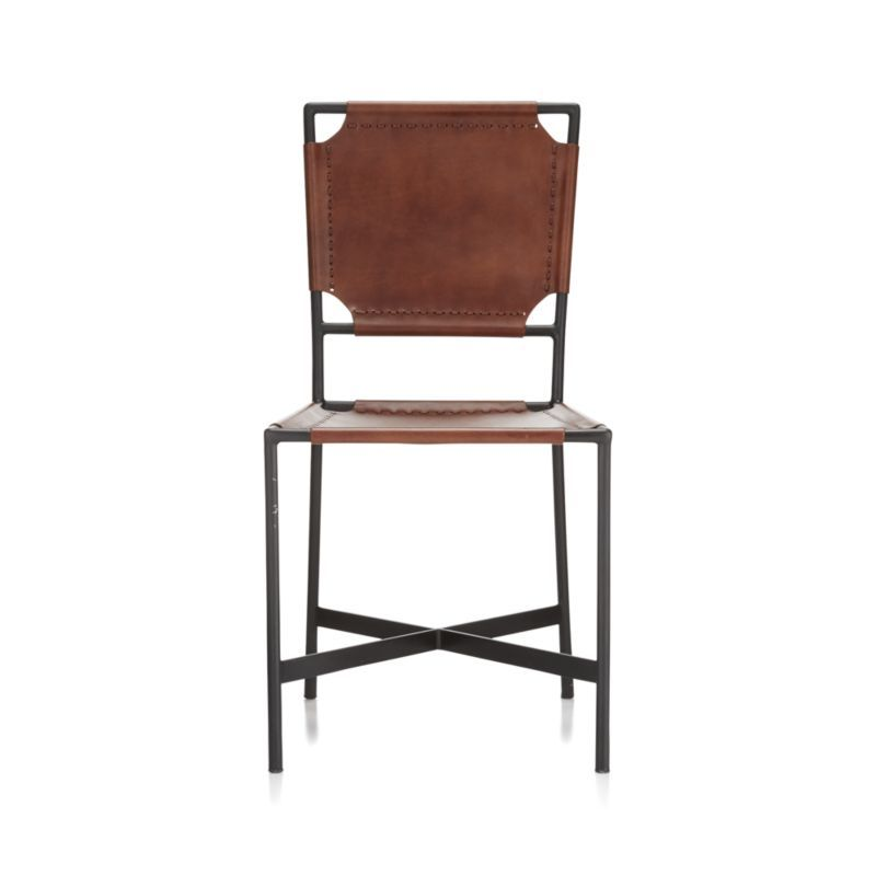 Awe Inspiring Laredo Brown Leather Dining Chair Products Leather Machost Co Dining Chair Design Ideas Machostcouk