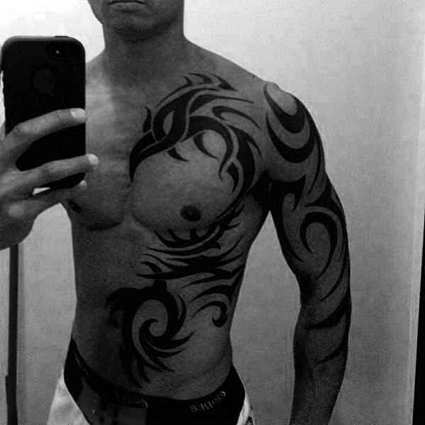 Tribal Tattoos For Men  Manly Design Ideas  Man Style  Tattoo  50 badass tribal tattoos for men  manly design ideas 50 Badass Tribal Tattoos For Men  Manly Design Ideas...