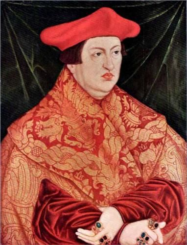 Portrait of Cardinal Albrecht of Brandenberg, 1526, Lucas Cranach the Elder, Saxony, Germany