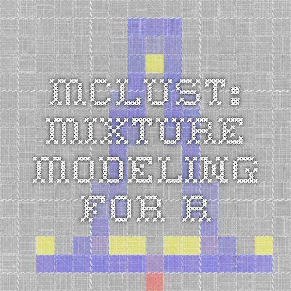 mclust: mixture modeling for R