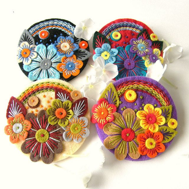 'OVER THE RAINBOW' FELT BROOCHES by APPLIQUE-designedbyjane, via Flickr