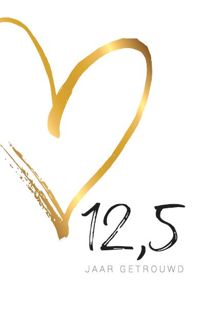 jubileumkaart met groot gouden hart | ❤ jubileumkaarten