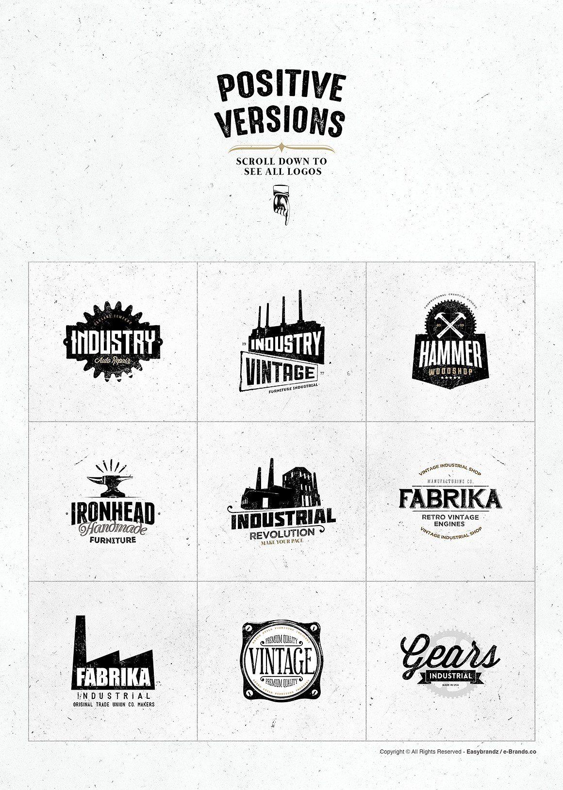 Industrial Logo Templates Industry Logo Logo Templates Vintage Logo Design
