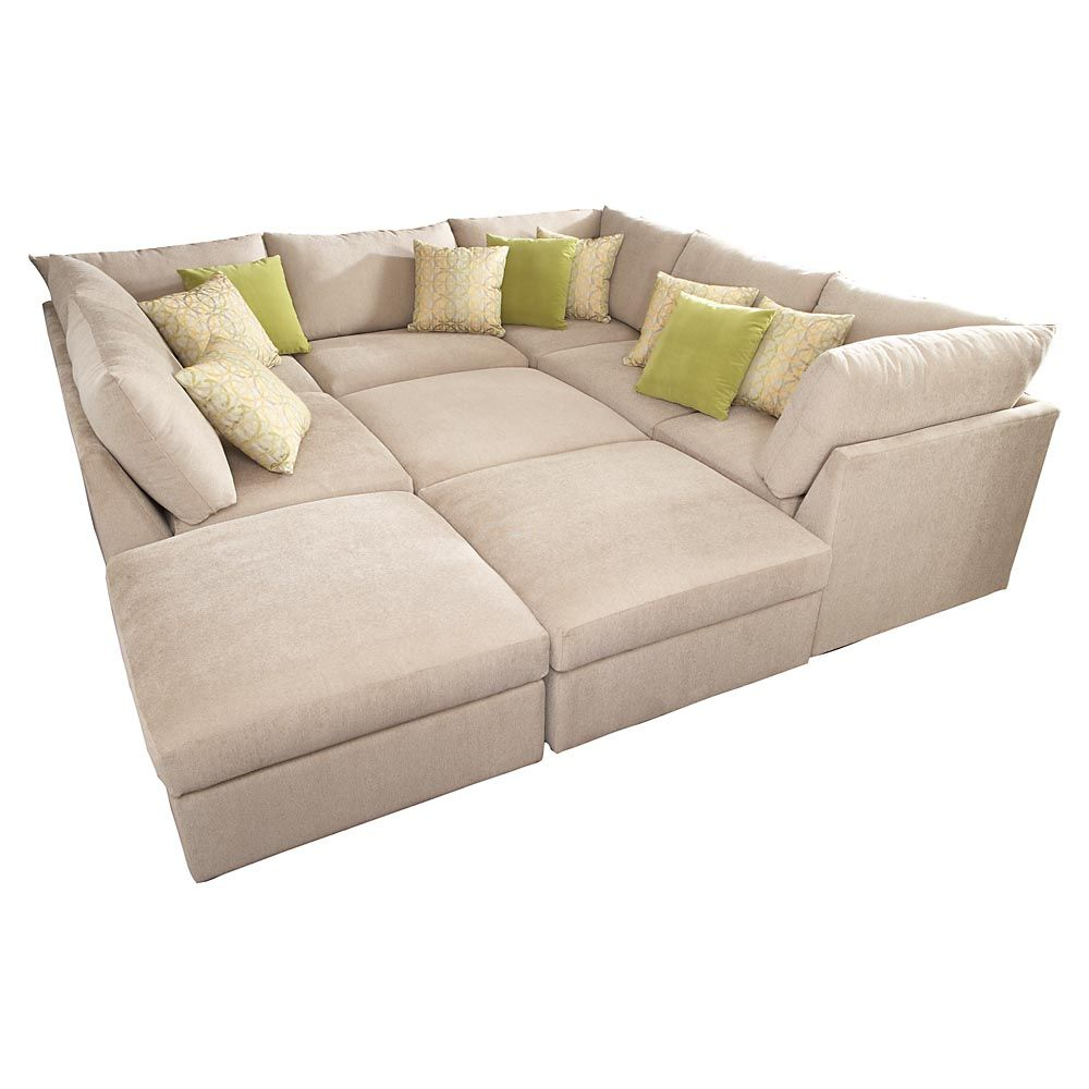 Pit couch on pinterest conversation pit big houses for Furniture sofas and couches