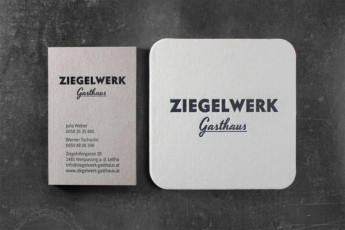 Letterpress Visitenkarten Und Bierdeckel Druck Erfolgte