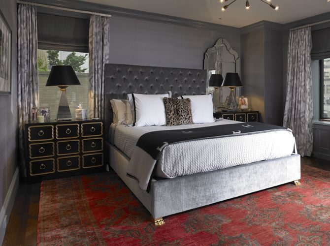 Dark Gray Bedroom Eclectic Bedroom Elizabeth Bauer Design Dark Gray Bedroom Grey Headboard Bedroom Eclectic Bedroom