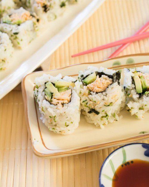 Sushi De Pollo Receta Sushi De Pollo Sushi Comida Etnica