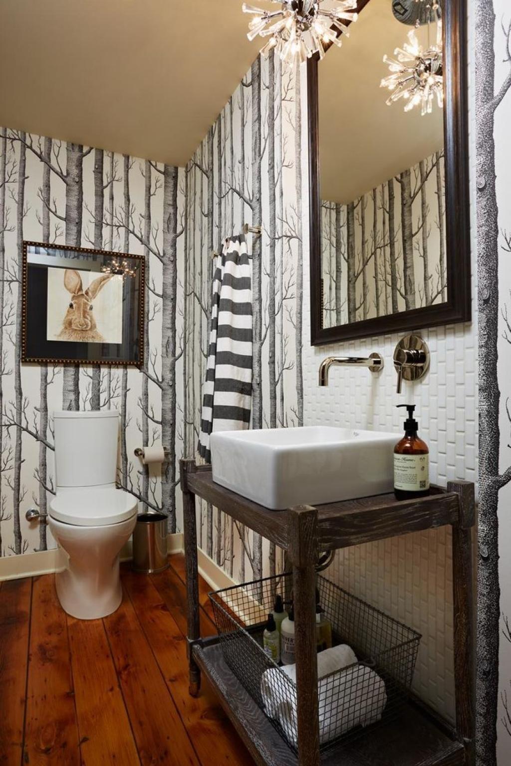 Dry Wood Forest Bathroom Wallpaper Ideas For Small Modern Bathroom Fascinating Small Bathroom Wallpaper Ideas Design Decoration