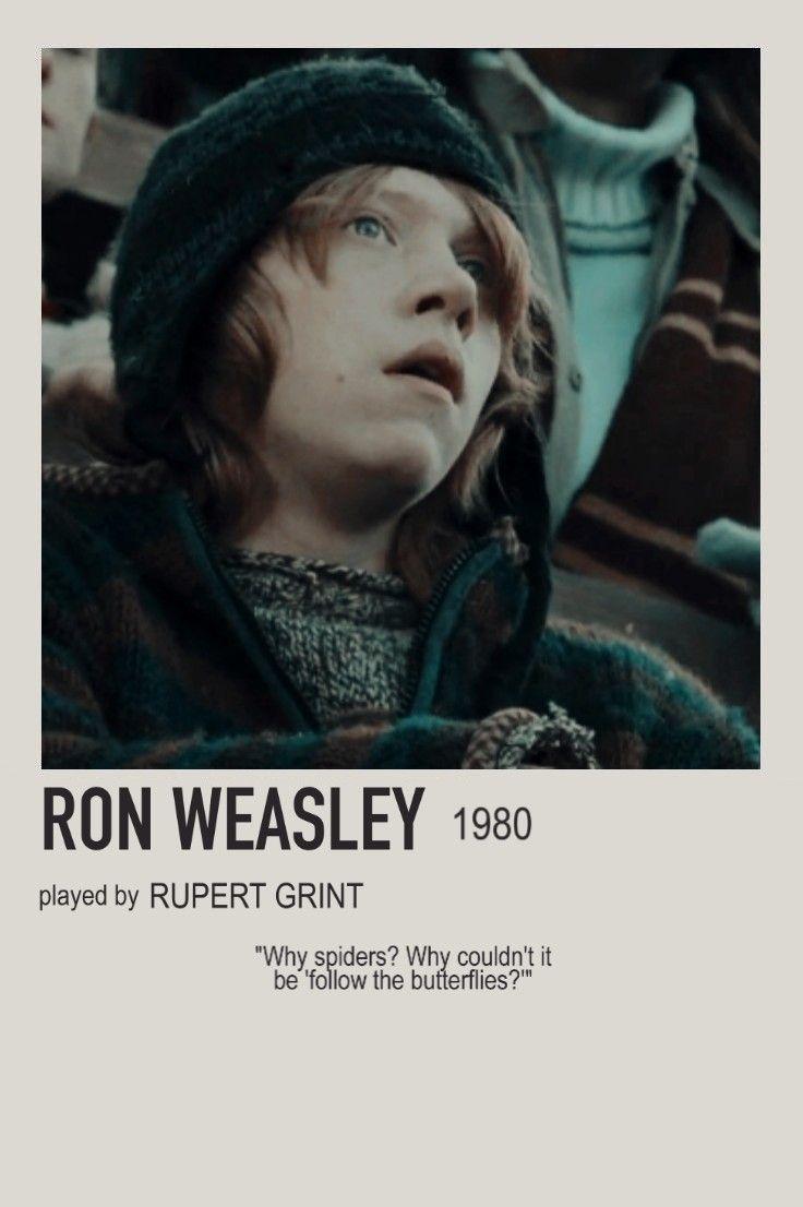 minimalist character polaroid ron weasley poster