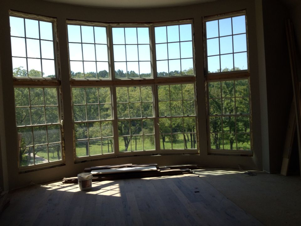 massive curved window wall pella architect series double hung