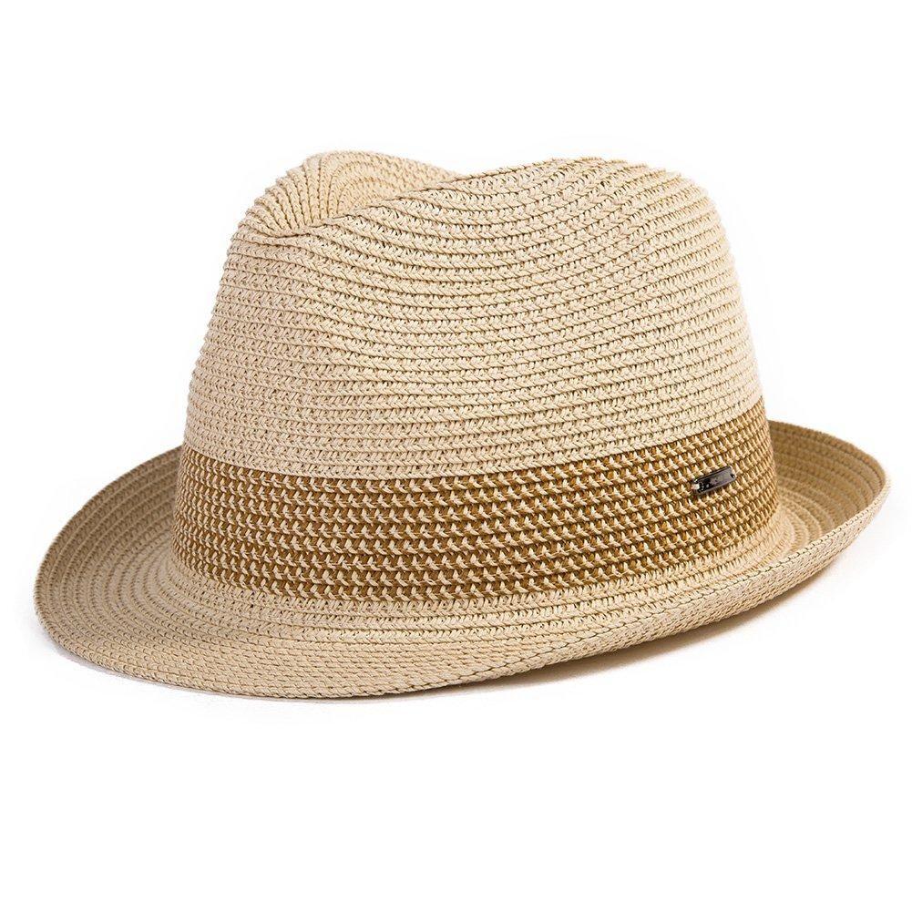 1bed73a72 Fedora Straw Fashion Sun Hat Packable Summer Panama Beach Hat Men ...