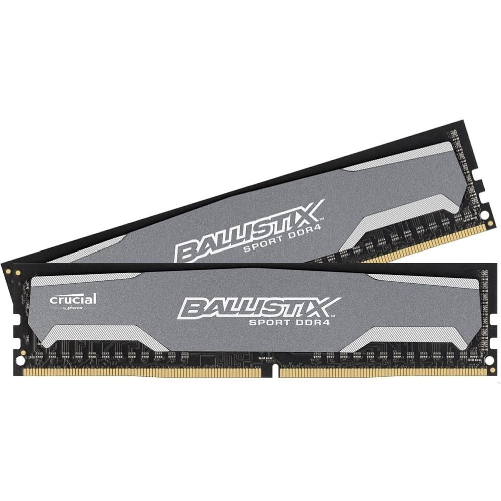 Crucial - 2-Pack 8GB PC4-19200 DDR4 Dimm Unbuffered Non-ECC Desktop Memory Kit