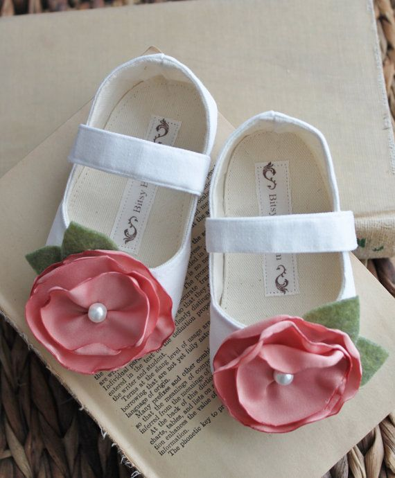 e20750aa6e32 Baby Girl Shoes Toddler Girl Shoes Soft Soled Shoes Wedding Shoes Flower  Girl Shoes Summer Shoes White Shoes Cream Shoes- White Chocolate
