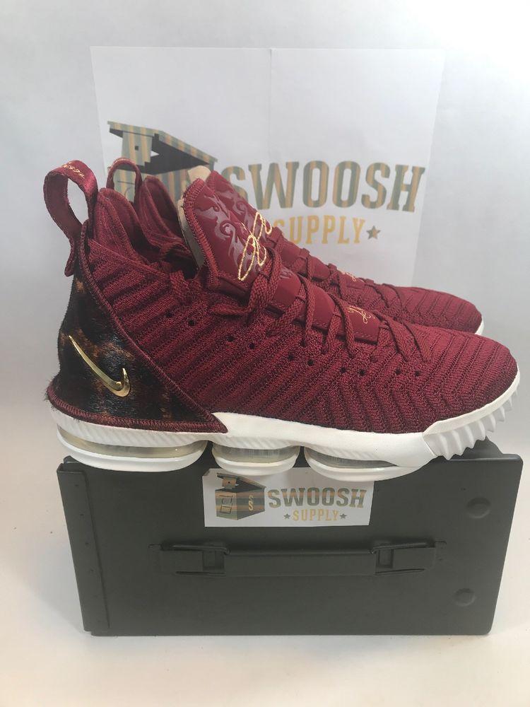 294a5ec2e194 New Nike Lebron 16 XVI Team Red Gold The King Sz 10 AO2588-601 Limited  Nike   BasketballShoes