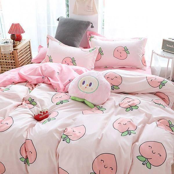 Peach Bedding Set - 200x230cm / Pink