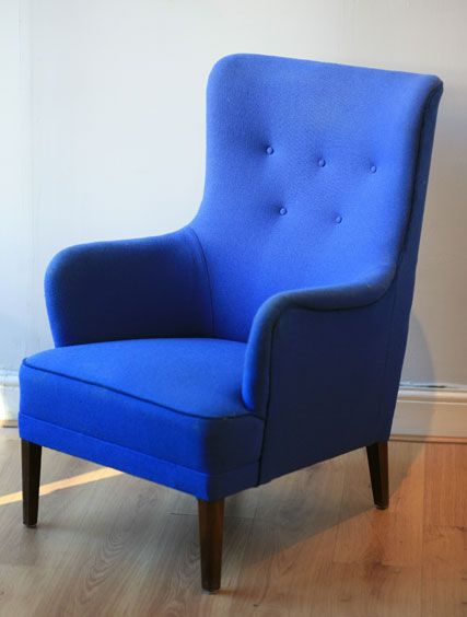Charming Electric Blue Armchair