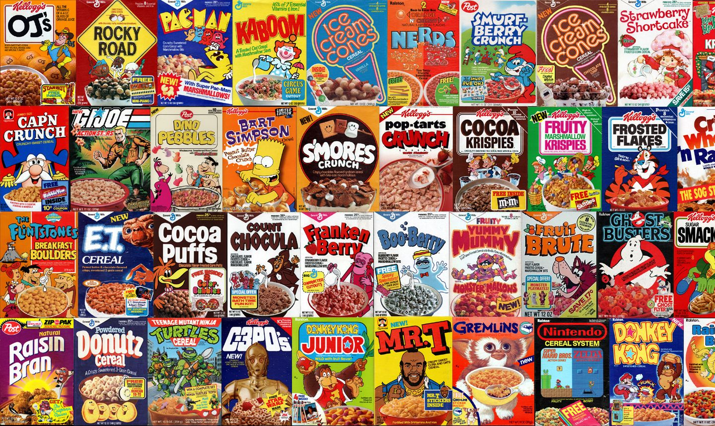 Retro Cereal Boxes wallpaper I made. Looks best tiled or ...