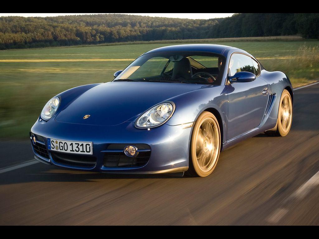 2007 Porsche Cayman Blue Front Angle Speed Forest 1024x768 Wallpaper Porsche Cayman 987 1024x768 Wallpapers