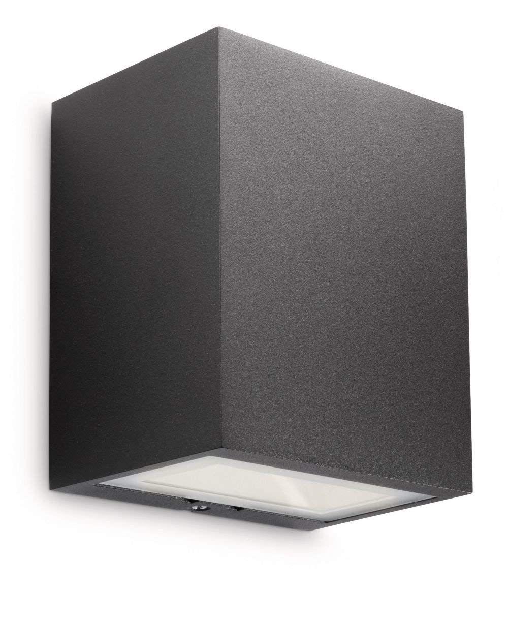 Philips Ledino Outdoor Flagstone Outdoor Wall Light Black Integrated 1 X 7 5 Watts Led Bulb Amazon Co Uk L Black Outdoor Wall Lights Wall Lantern Flagstone