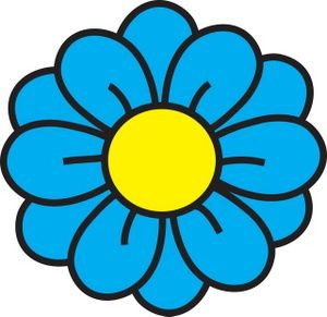 flower clipart image clip art illustration of a blue flower with a rh pinterest com blue flower clipart png blue flower border clipart