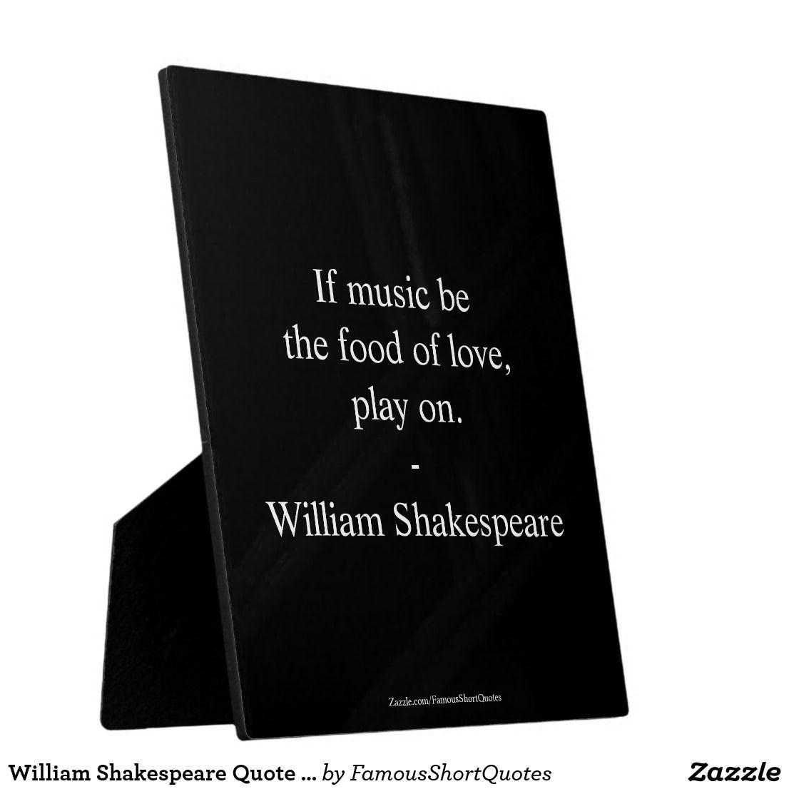 William Shakespeare Quote   Love Plaque. William Shakespeare Quote   Love,  Plaque With Easel