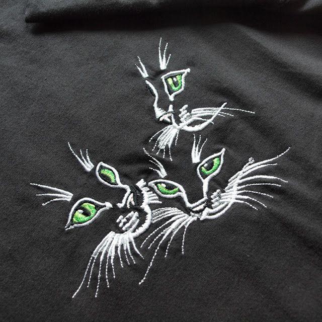 Helen Fir-tree machine embroidery #handmade #cats # ...