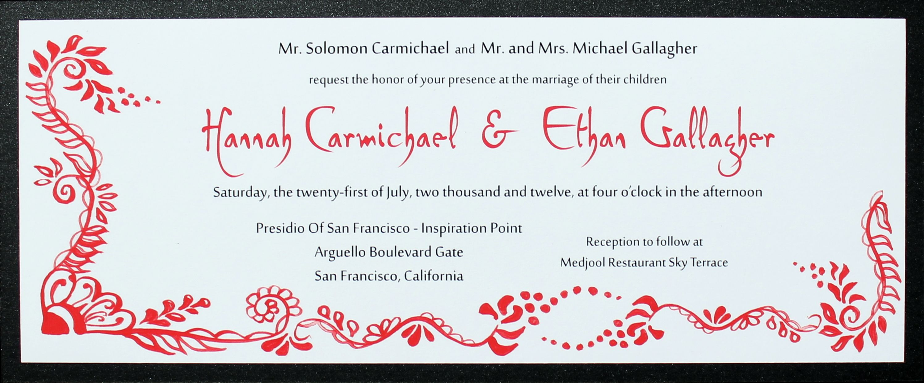 Wix red wedding invitations red wedding and invitation design red wedding invitation design inspired by 1960s san francisco with a flavor of middle eastern influence stopboris Choice Image