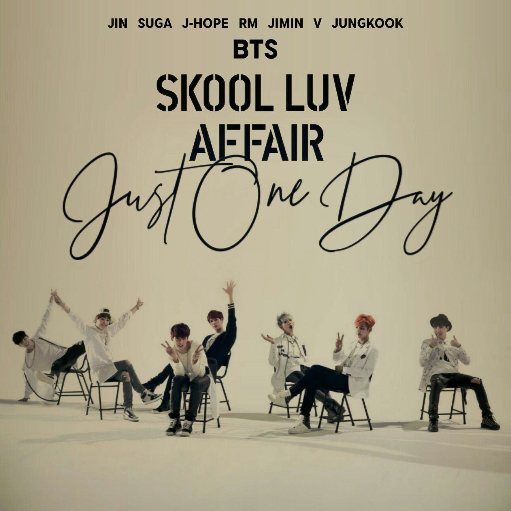 Bts Just One Day Skool Luv Affair Album Cover By Lealbum Bts