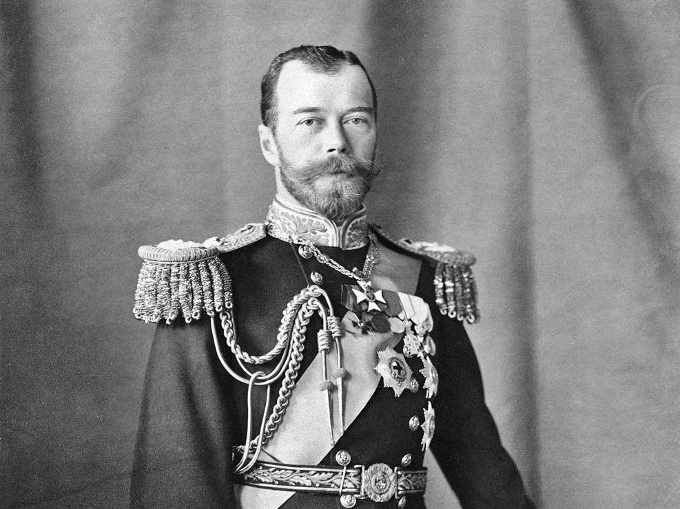 Het hoofd van de familie. De vader: tsaar Nicholas de 2e.