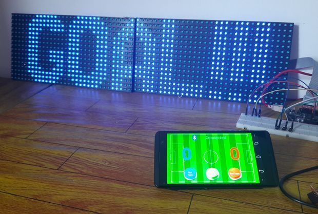 Score Board Project With P10 LED Display Using DMD Raspberry Pi