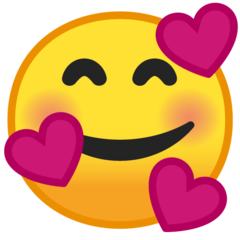 Smiling Face With 3 Hearts On Google Android 9 0 Smile Face Emoji Heart Emoji