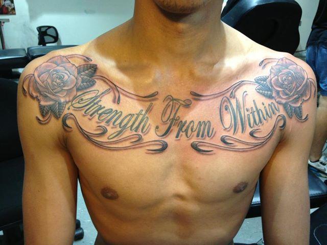 Http Www Kintzart Com Au Wp Content Uploads 2013 11 1234417 10151825710964720 394661599 N Jpg Chest Tattoo Men Writing Tattoos Tattoos For Guys