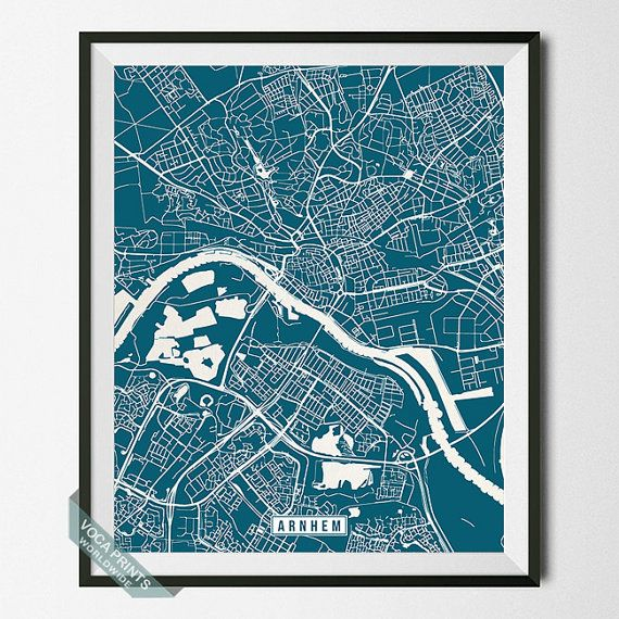 Arnhem Print Netherlands Map Arnhem Map Netherlands by VocaPrints